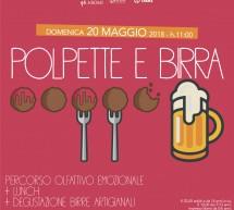"""""""Polpette e birra"""" agli Aromi domenica 20 maggio."""