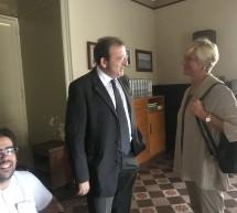L'ex Ministro della Difesa, Roberta Pinotti in visita a Scicli