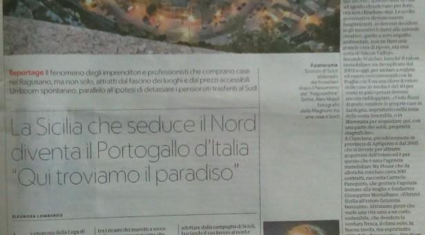 """Scicli che seduce il Nord: su """"La Repubblica"""" una pagina dedicata alla nostra città"""