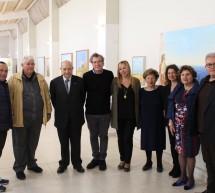 Il presidente nazionale Unicef visita la mostra di Franco Polizzi.