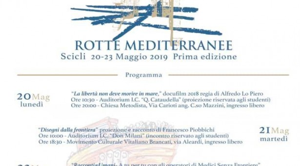 Rotte Mediterranee dal 20 al 23 maggio a Scicli