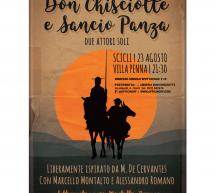"""Stasera a Villa Penna a Scicli """"Don Chisciotte e Sancio Panza – Due attori soli"""""""