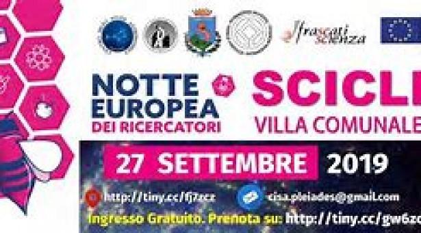 La Notte dei Ricercatori 2019 a Scicli. A Villa Penna il 27 settembre.