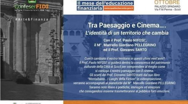 Tra paesaggio e cinema a Palazzo Spadaro. Incontro con Paolo Nifosì, Marcello Pellegrino, Giovanni Sarto.