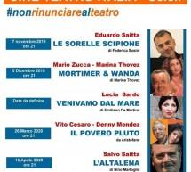 Dal 7 novembre la Stagione Teatrale a Scicli (all'Italia)