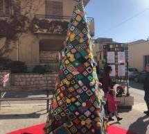 L'Albero di Natale con l'uncinetto. A Donnalucata.