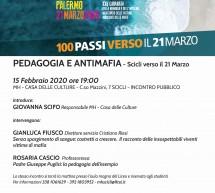 """""""Pedagogia e antimafia""""  dibattito alla Casa delle culture. Sabato 15 febbraio."""