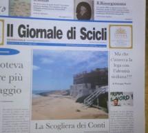 Il Giornale di Scicli in edicola da sabato 23 maggio. A Cava d'Aliga la Scogliera dei Conti.