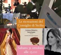"""Tiziana Bellassai teatralizza """"Donnafugata"""" di Costanza Diquattro. Al Consiglio di Sicilia."""