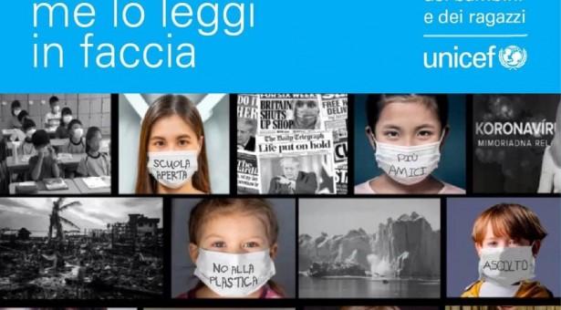"""LaCampagna nazionale UNICEF """"Il futuro che vorrei me lo leggi in faccia""""."""