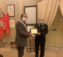 Carabinieri: Va in pensione il Comandante Paolo Giarrizza, della Tenenza di Scicli. Il saluto del Sindaco.